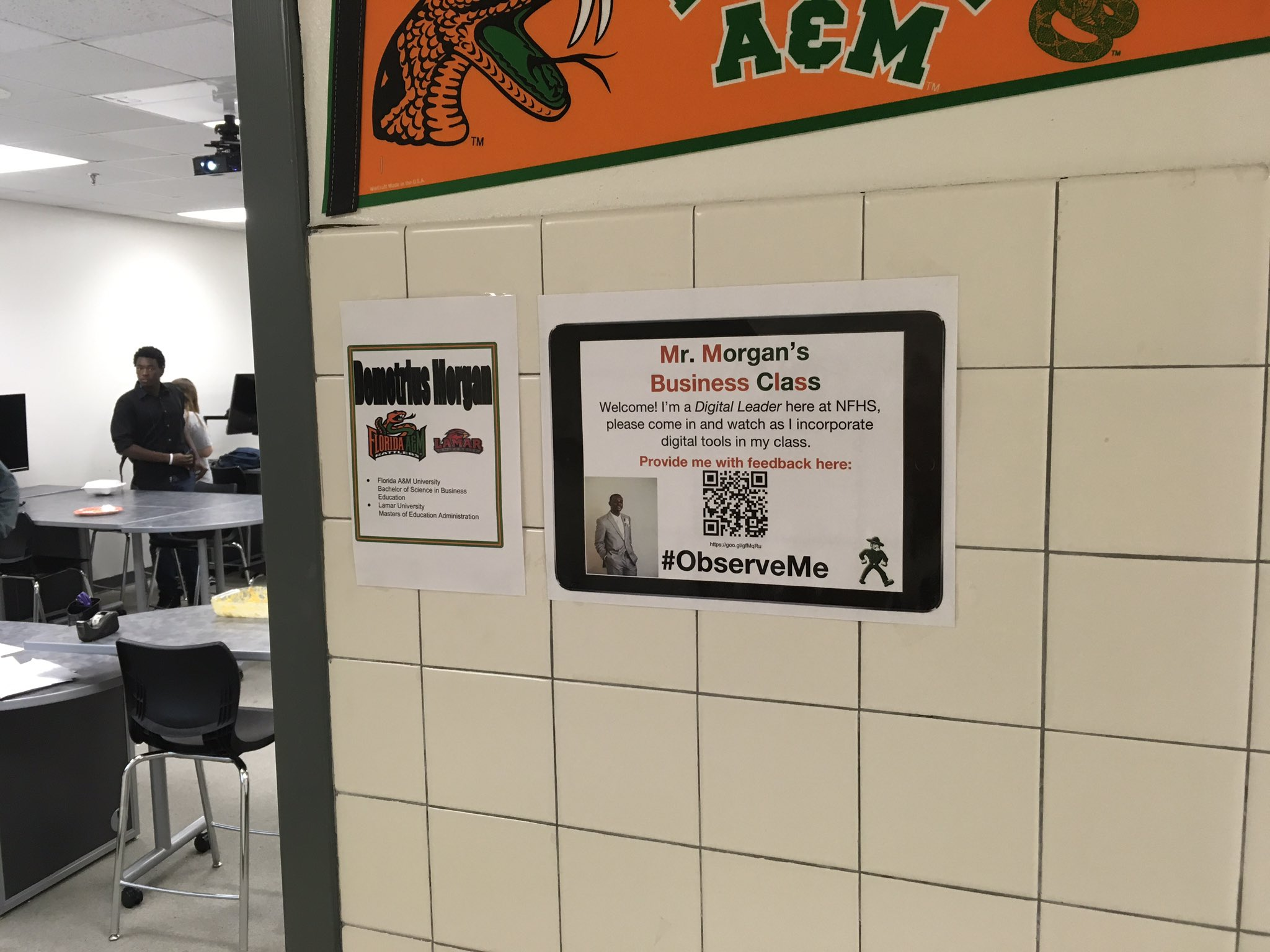 Teachers at @NFHS_Rangers are joining the #ObserveMe movement. Check out @Dmorgan357 sign!  #gisdready #nfhsready https://t.co/SNsvz3JnX2