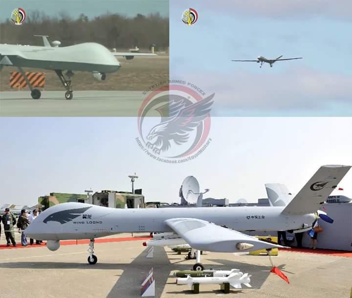 اول ظهور لدرون Wing-loong  الصيني لدى الجيش المصري   CuqXUblWYAEc1EM
