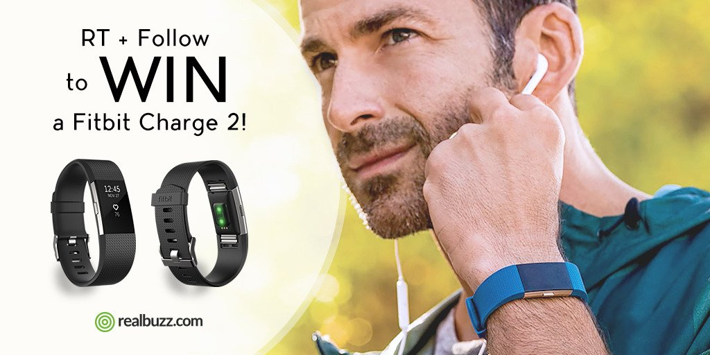 Get your hands on a new Fitbit Charge 2. RT + Follow for your chance to #win our #competition. #realbuzzCharge2