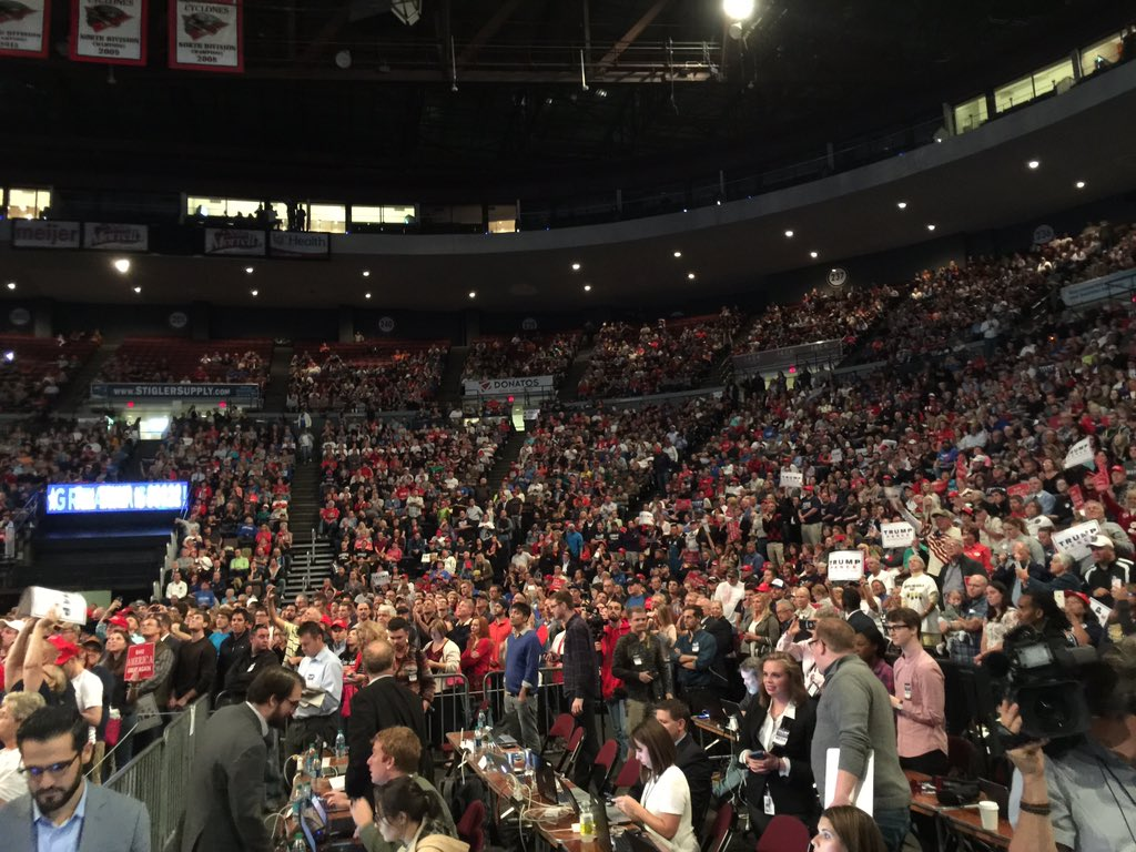 Ashley killough on twitter massive crowd at trumps rally in never miss a moment publicscrutiny Image collections