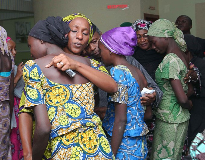 Glory Be To God: Osinbajo welcomes released Chibok girls