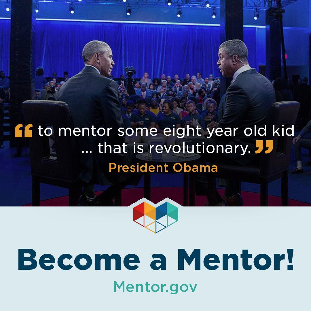 Answer the call! https://t.co/skWAt9qDQJ saw a 1700% increase in #mentoring inquires 24hrs after @POTUS encouraged 2 #mentor #MentorIRL https://t.co/fUErj8siWO