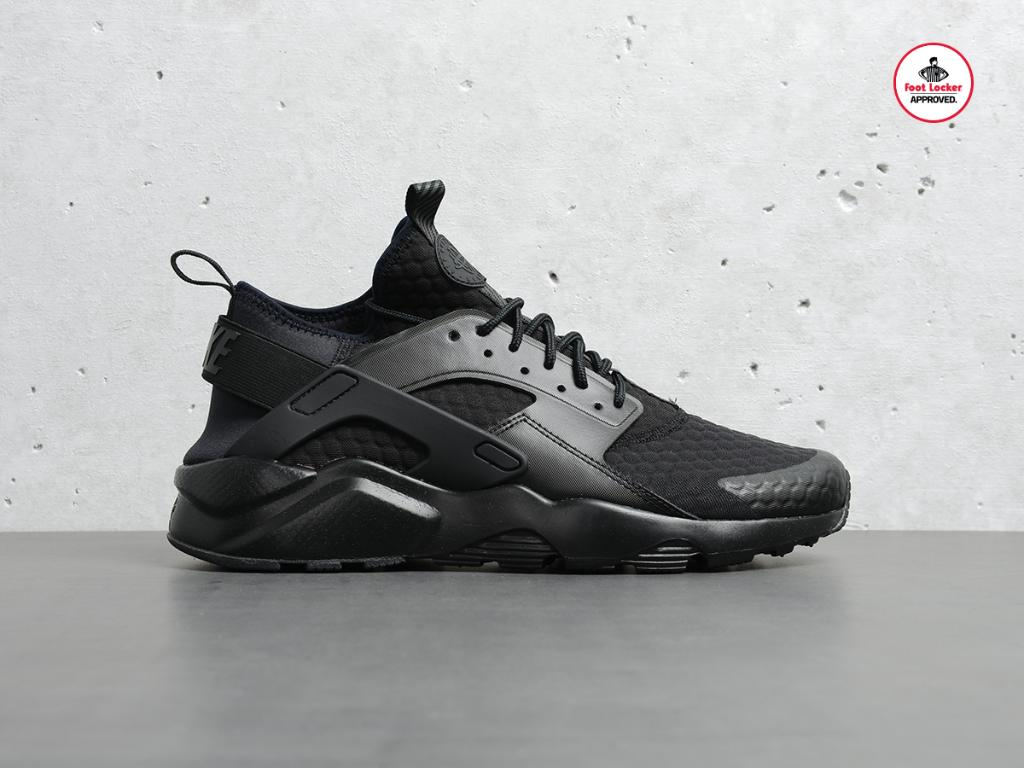 81442a99ea1f9 the triple black nike air huarache ultra available in stores and online