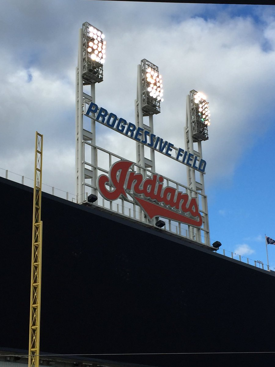For fans of irony, the Indians play at a park called Progressive Field. https://t.co/EjO1hve8RS