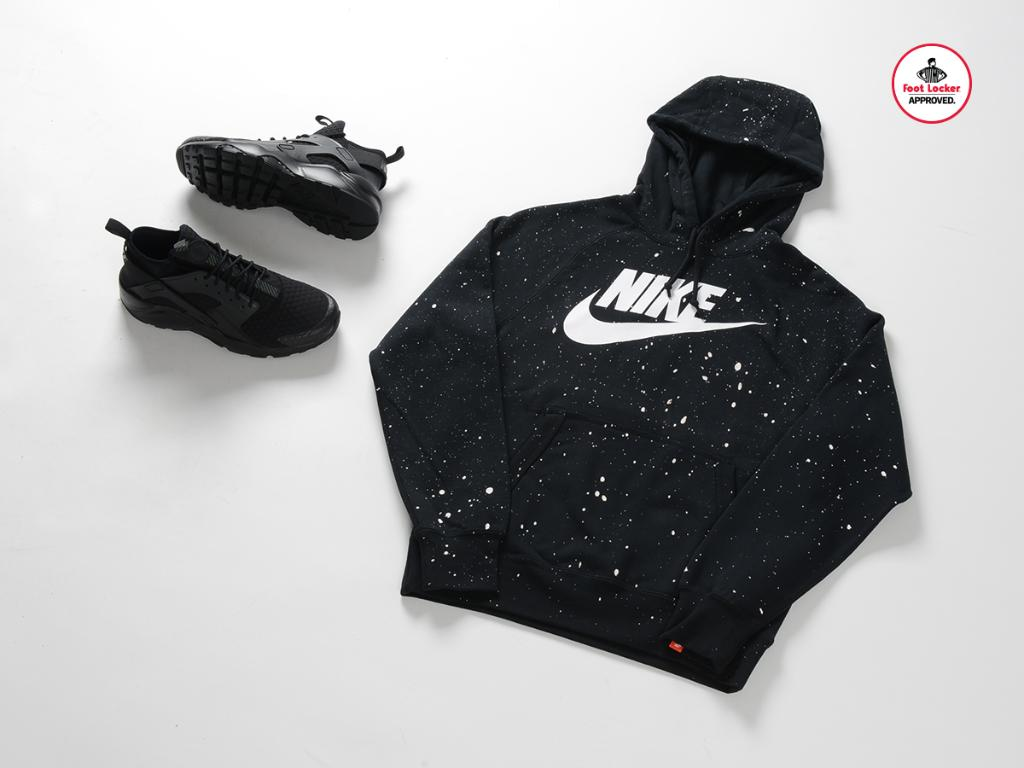 34a7355e3d8 A look at our new black hazard speckle  nike hoodie. available in stores.