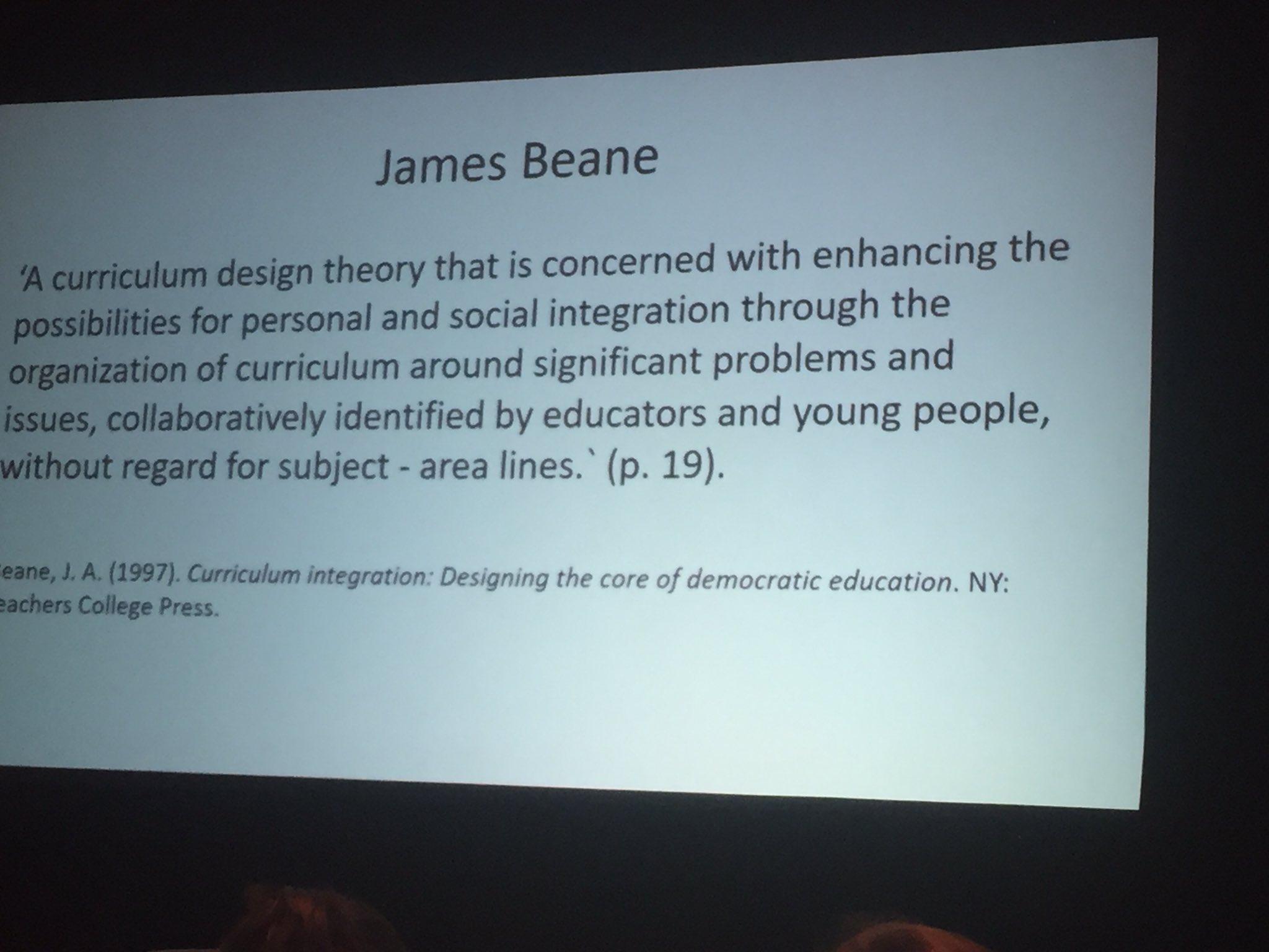 James Beane - Curriculum integration  #acsasym https://t.co/bzWfk0HhSM
