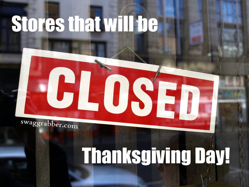 Retail Stores That Will Be Closed on Thanksgiving Day https://t.co/N25pM3h6ya https://t.co/5bxyziKOGX