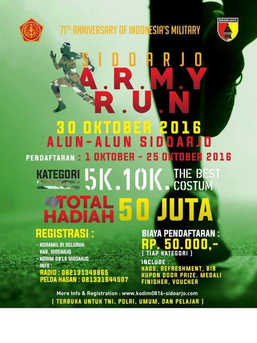 ARMY Run – Sidoarjo ~ 2016