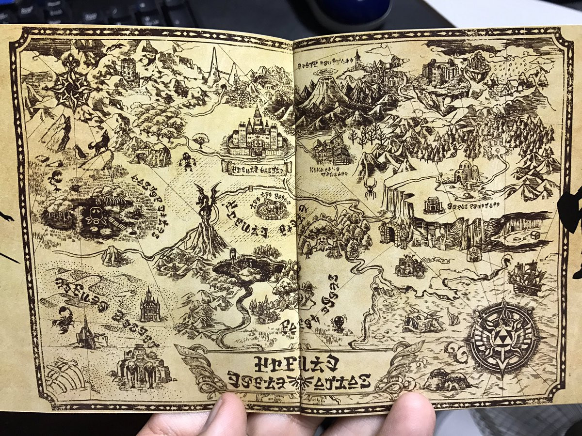 John Ricciardi Black Lives Matter Ar Twitter So This Hyrule Map In The Zelda 30th Anniversary Cd Which Game Is It From Could This Be Breath Of The Wild Looks