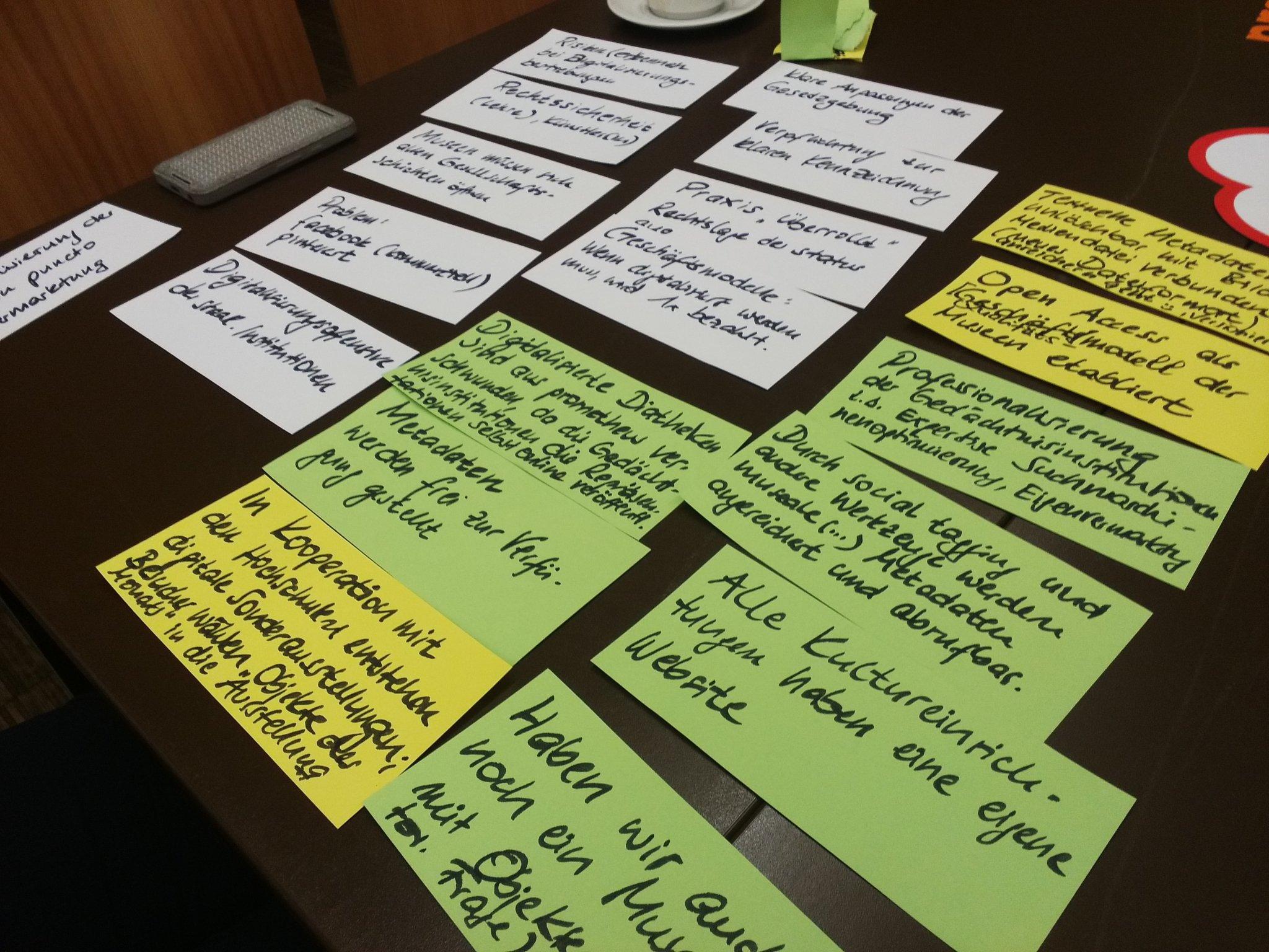 Wo sind wir in 15 Jahren? Viele Ideen (und Herausforderungen) zum Thema #openGLAM bei #promtagung 2016. https://t.co/NPfrSQnDKx