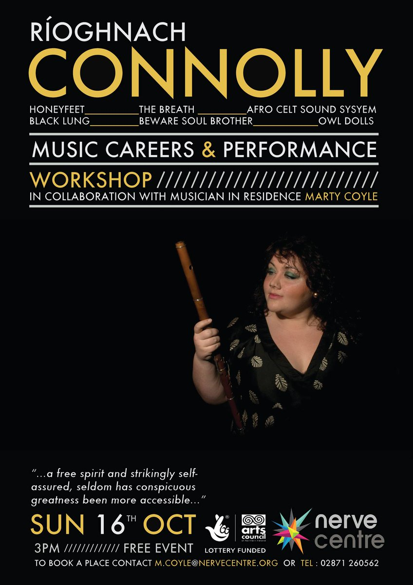 musicni on topsy one this sunday there s a music careers performance workshop riacuteoghnach connolly nerve centre from