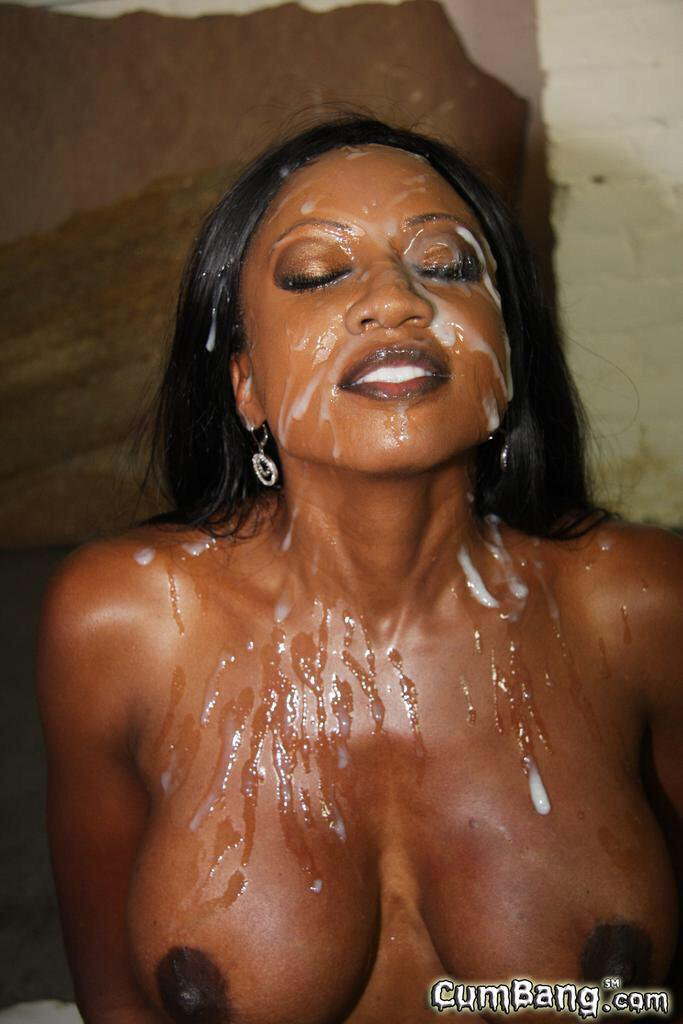 black naked girls cum on face