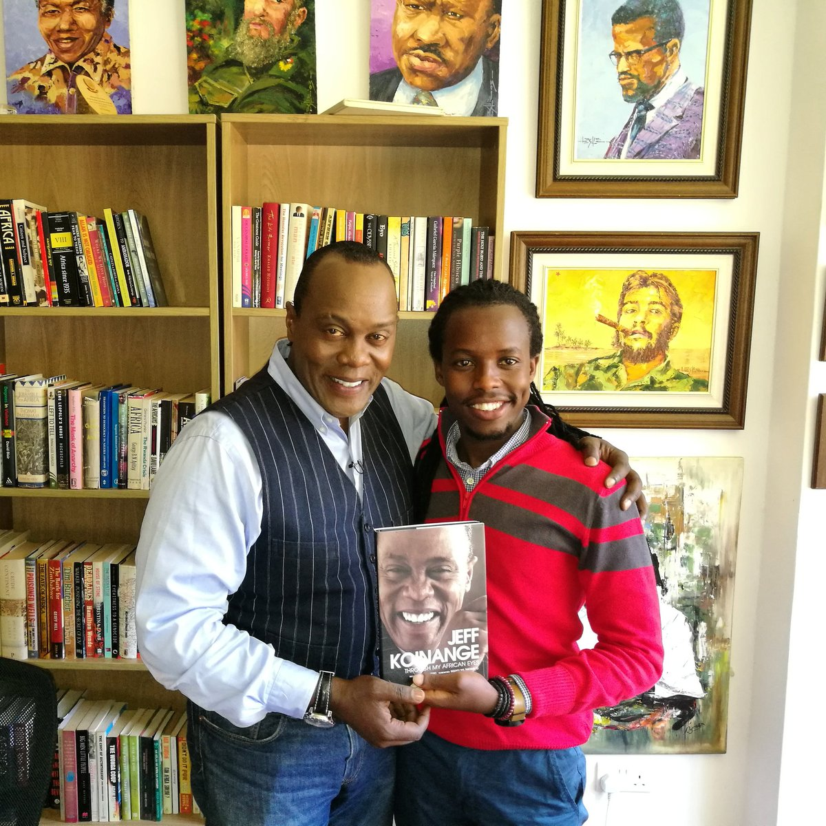 """Eugene Mbugua on Twitter: """"Got my copy of Through My African Eyes signed by the man himself @KoinangeJeff… """""""