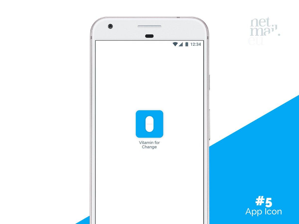 Day 005 - App Icon. #DailyUI #95DaysToGo #VitaminForChange https://t.co/BCD4ib6Xn4