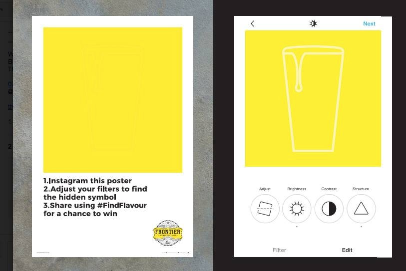 instagram our innovative frontierlager posters to reveal hidden prizes brand innovative hidden