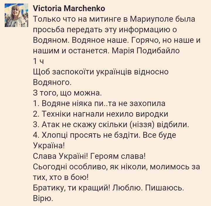 Боевики не занимали позиций у Водяного на Мариупольском направлении, - пресс-офицер Киндсфатер - Цензор.НЕТ 7918