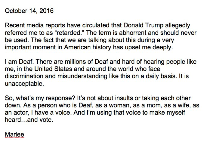 My response to recent media reports - Marlee. https://t.co/Mkrbh47dUO