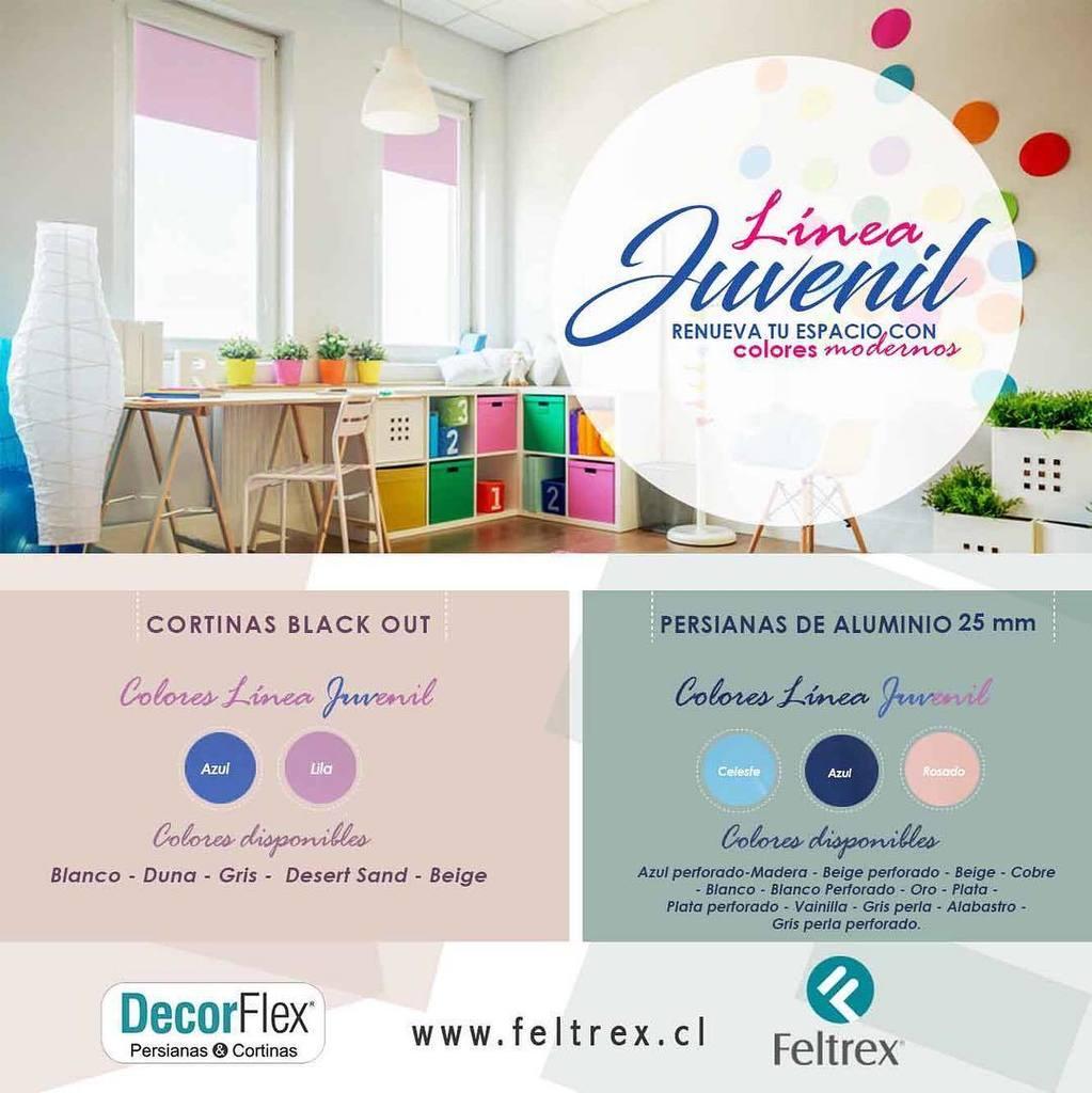 ideas para decorar #Feltrex #lineajuvenil #cortinas #roller #pisos