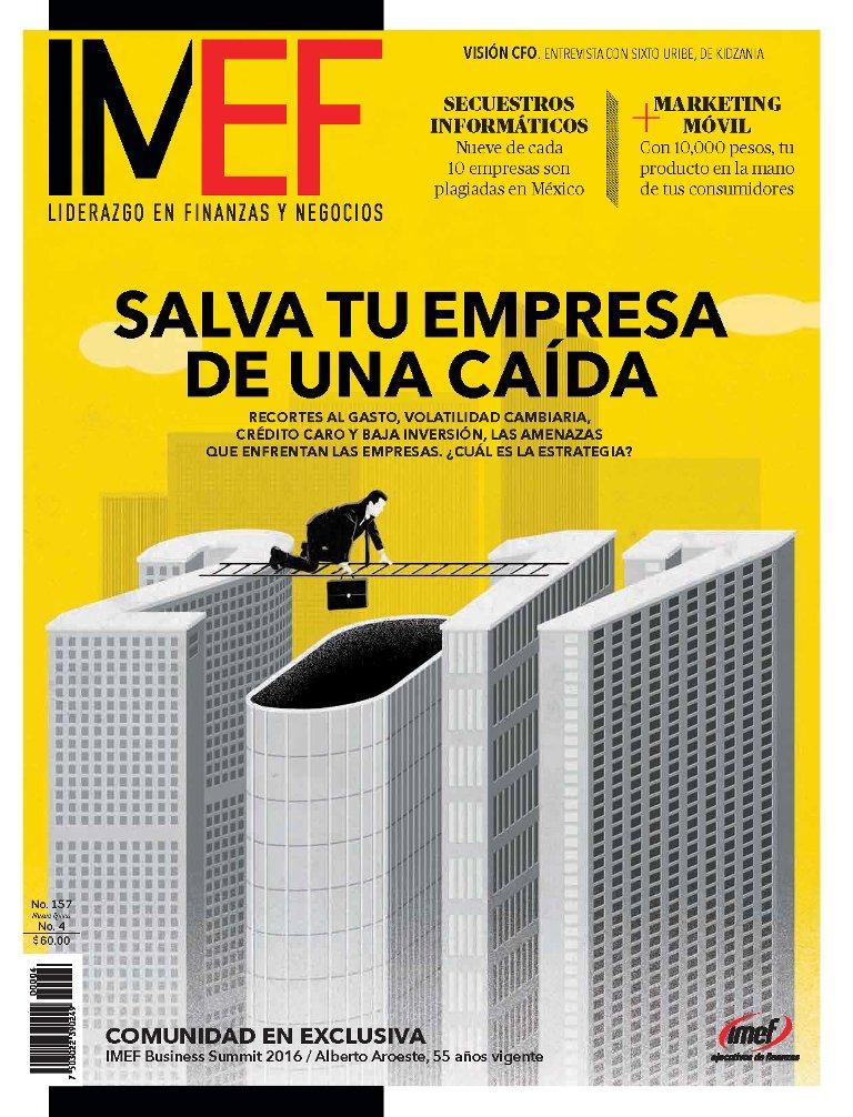 """Busca ya la nueva edición de #RevistaIMEF. En portada: """"Salva tu empresa de una caída"""". Cómprala en Sanborns y Vips o al (55) 40403641 https://t.co/0ysuetqscG"""