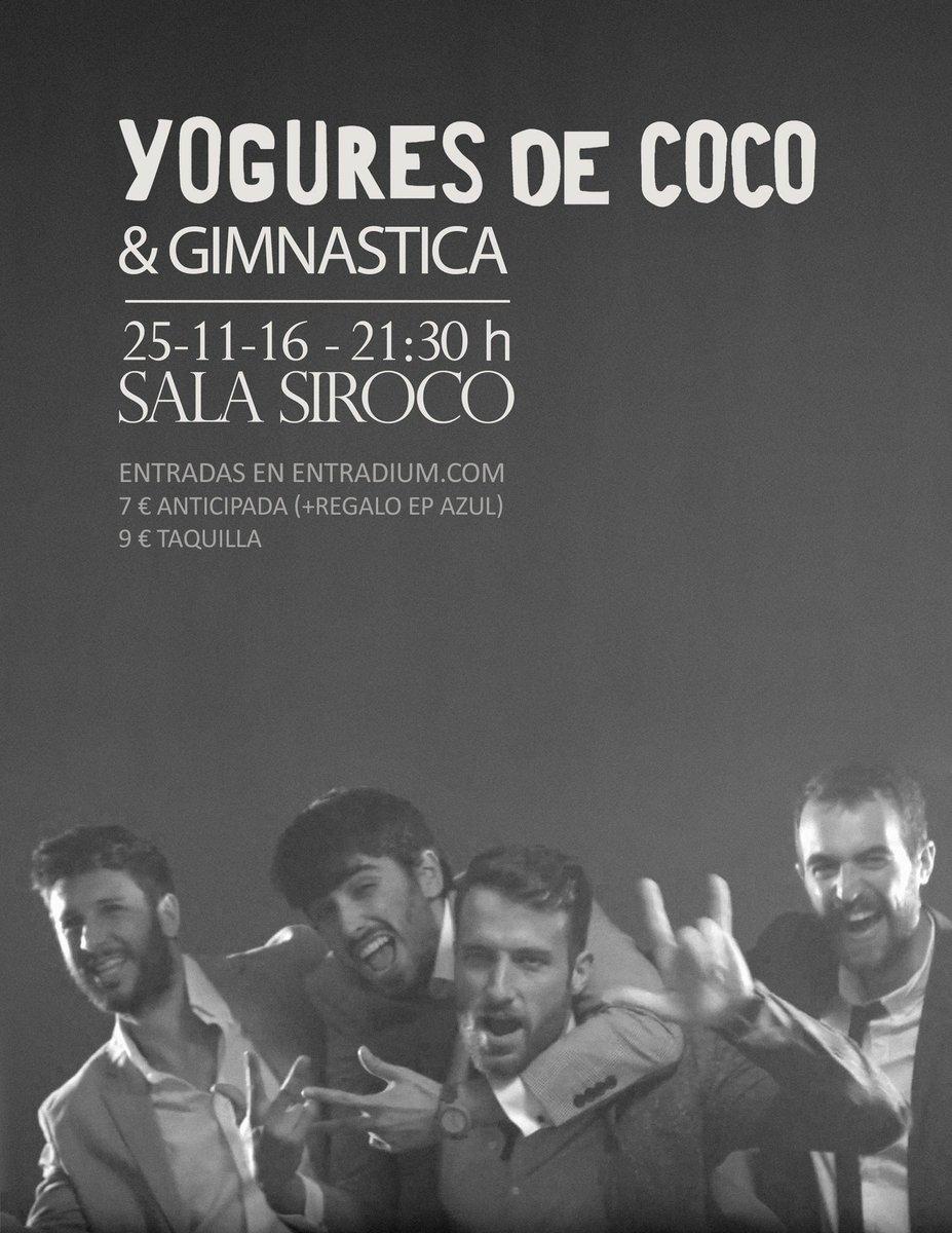Gimnástica y Yogures de Coco en Siroco
