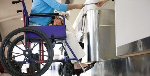 Passenger in a wheelchair. Source: DOT