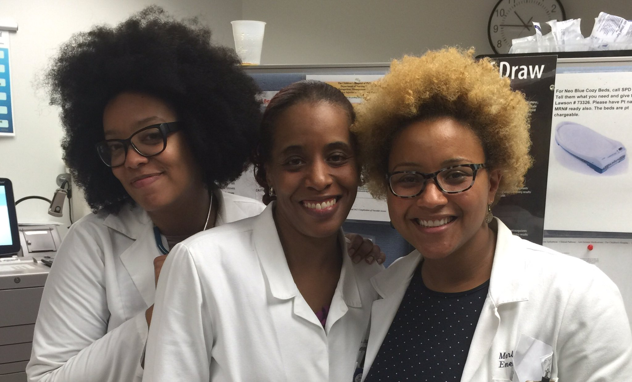 Black women doctors protesting racism with hashtag campaign