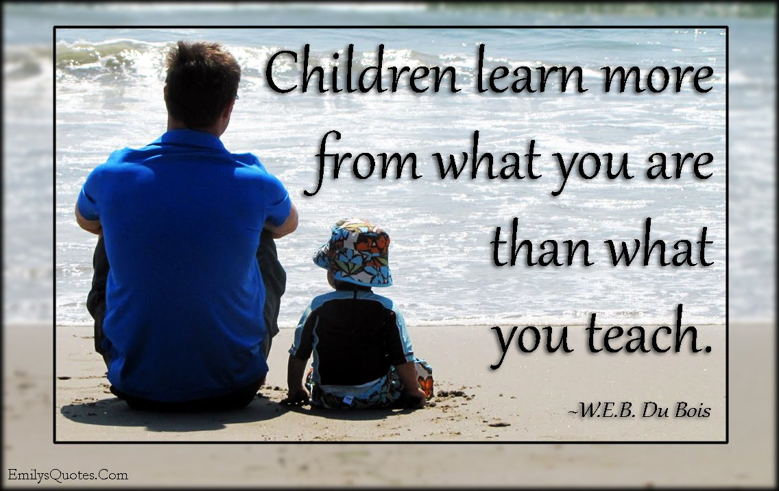 This quote speaks so much truth! Be a great example to your children and to the children that you teach. #QuoteOfTheWeek https://t.co/ZIBJyGEUnv