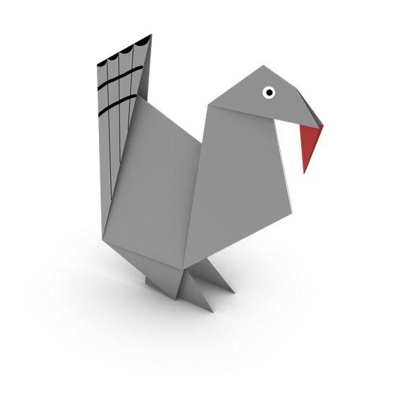 origami turkey | Origami turkey, Holiday origami, Napkin origami | 560x560