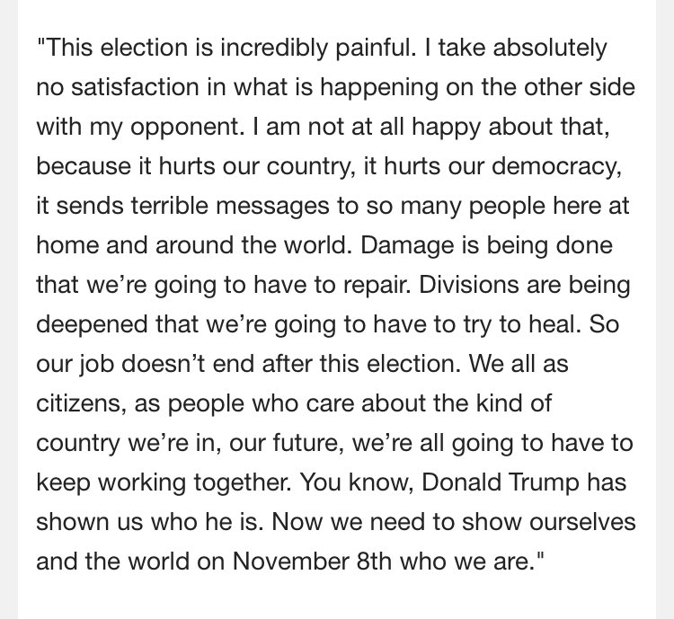 "Clinton: ""This election is incredibly painful."" Via pooler @thomaskaplan https://t.co/B1V4L0MeMs"