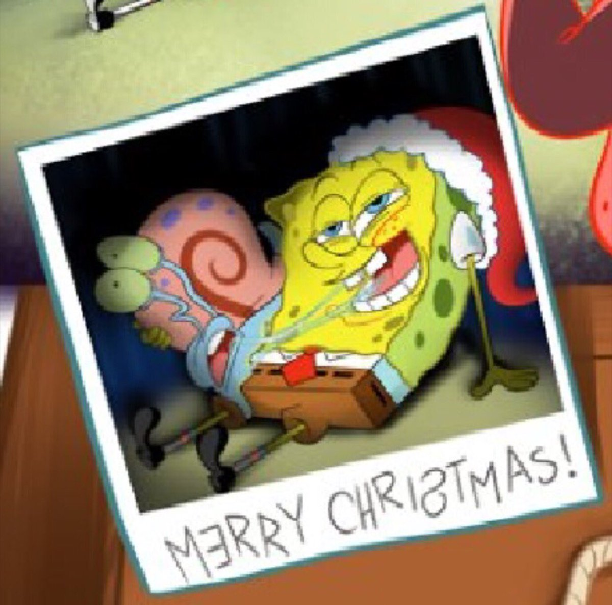 top 28 the embarrassing picture of spongebob at the christmas found this at work funny. Black Bedroom Furniture Sets. Home Design Ideas