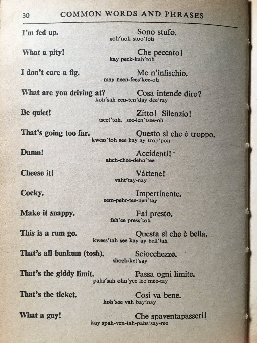 English In Italian: This English / Italian Phrase Book From 1963 Has Some