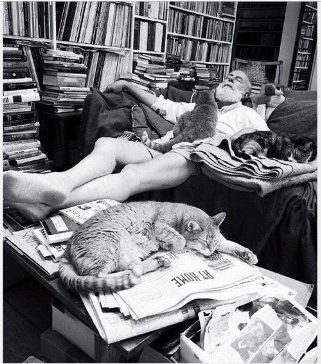 All hail Edward Gorey, the patron saint of cats. #NationalCatDay #ArtistsandTheirCats <br>http://pic.twitter.com/ZrGDi4ThNQ