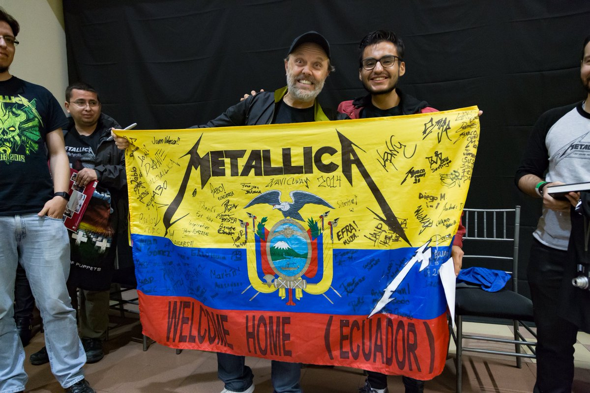 Metallica On Twitter Lars Meeting Some Fifth Members In He Meet