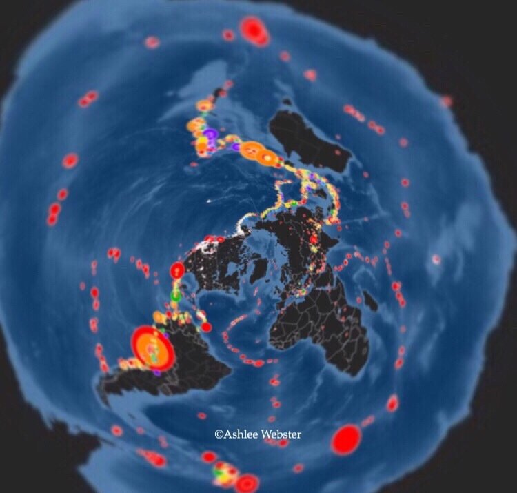 Flat Earth Map Ice Wall.Rollins On Twitter The Ring Of Fire On A Flatearth Map What S