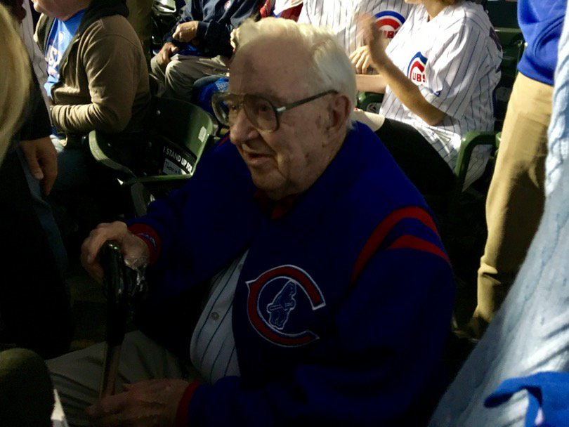 "96-year-old Justice John Paul Stevens attended Game 4 tonight. ""I'm a Cubs fan, and I've always been a Cubs fan."" https://t.co/kJBURfRH4G"