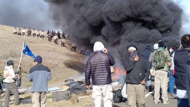 117 arrested at Dakota Access Pipeline protest as police move in