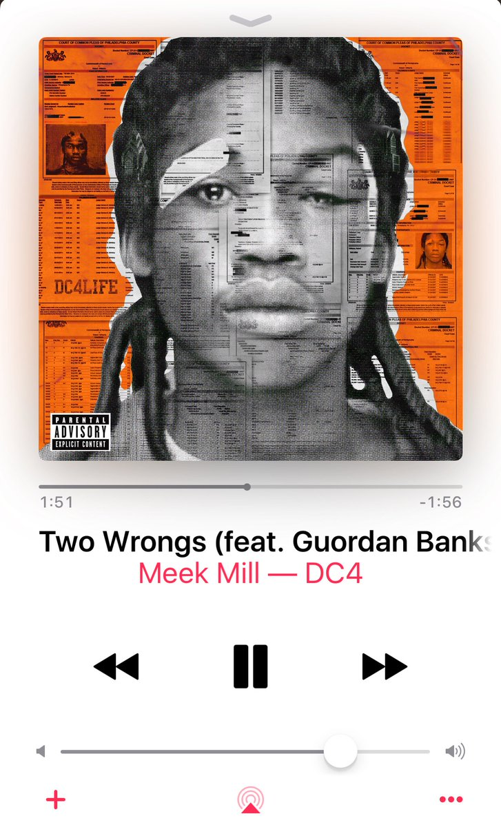 Listen to Two Wrongs (feat. Guordan Banks & Pusha T) by Meek Mill on @AppleMusic. https://t.co/qvGRWdd90l https://t.co/QaZ1BGfa5Z