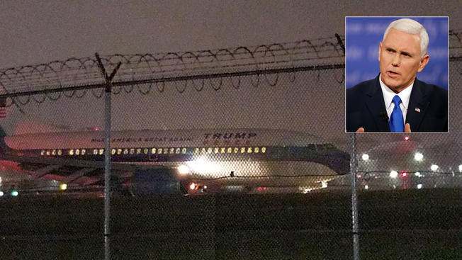 Pence's campaign plane slides off runway in NY: NBC News