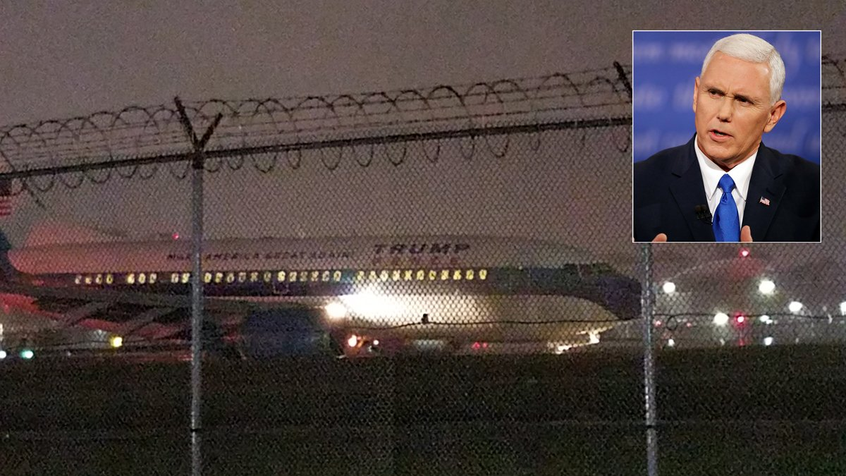 LaGuardia Airport shut down after VP candidate Mike Pence's campaign plane slides off runway