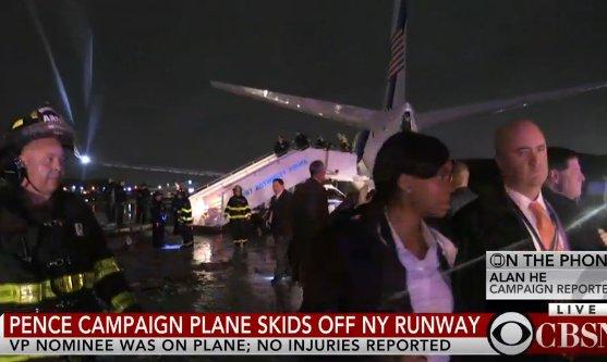 DEVELOPING: Pence plane slides off Runway at NYC's LaGuardia Airport
