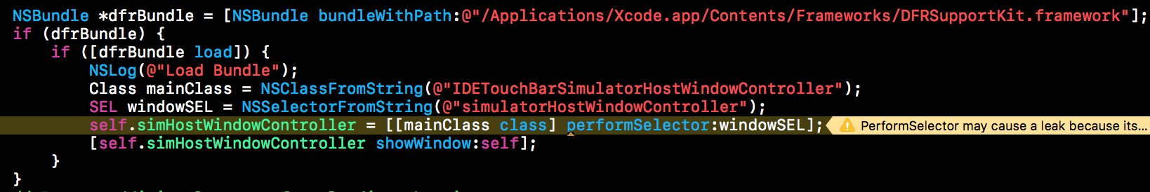 And it's possible for app to borrow the touch bar from Xcode 🙃 cc @stroughtonsmith https://t.co/qivvFbvvsU