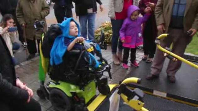 Two brothers in wheelchairs getting around easier thanks to donation