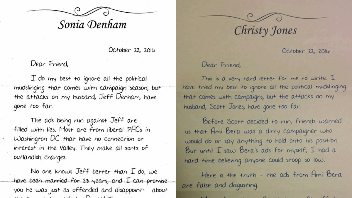 2 GOP candidates use very similar letters from their wives to try to sway voters