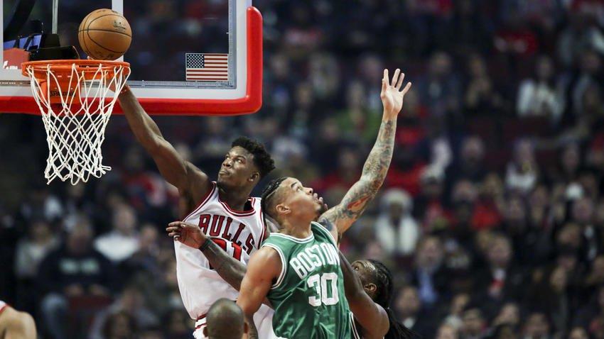 Jimmy Butler scores 24 as Bulls top Celtics 105-99 in season opener