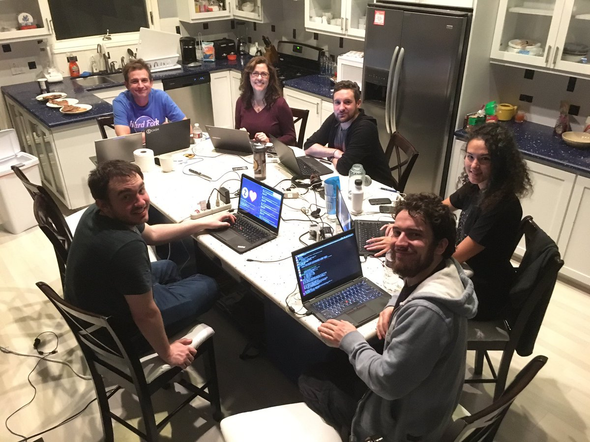 Half of the @ZcashCo team hard at work (the other half are also hard at work, just at different locations). #zcash ⓩ https://t.co/h18qCs3C28