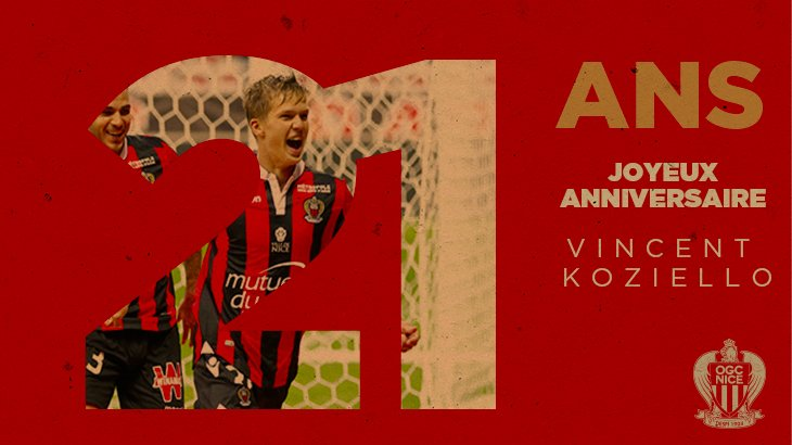 Ogc Nice On Twitter Bon Anniversaire Vincent Club