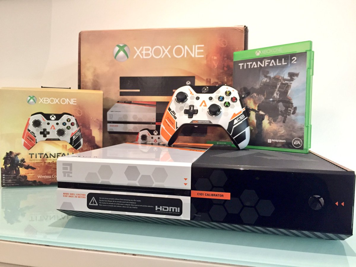 RT + Follow for your chance to WIN #Titanfall2 and a custom Xbox One console 🎮