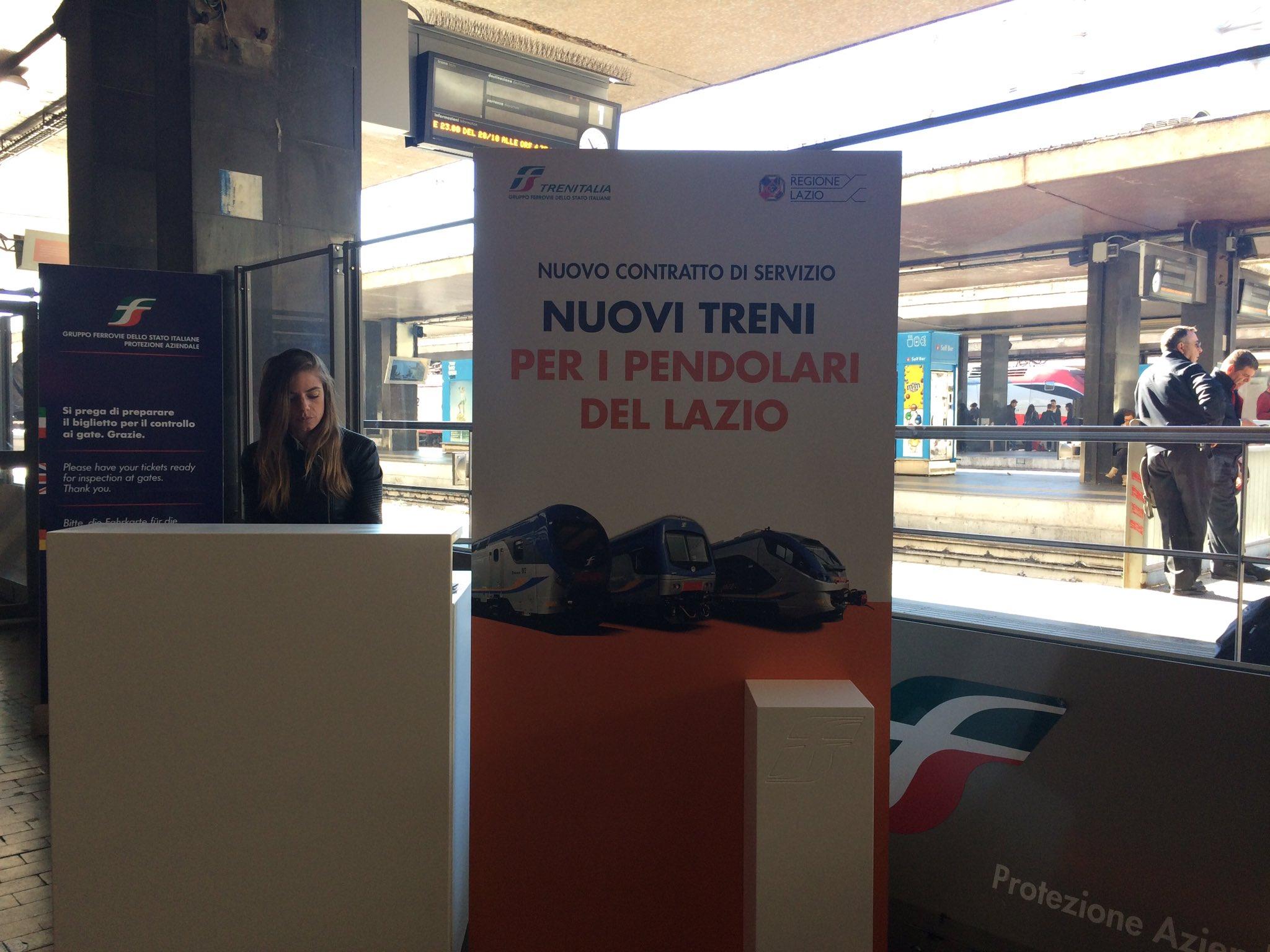 Nuovo contratto di servizio tra Trenitalia e @RegioneLazio. A breve conferenza stampa #RomaTermini https://t.co/rQVeEjEoLB