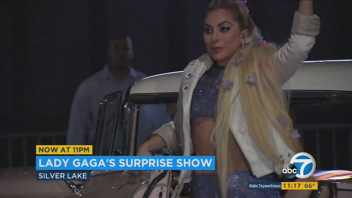 LadyGaga delights fans with surprise LA appearance at small club for DiveBarTour