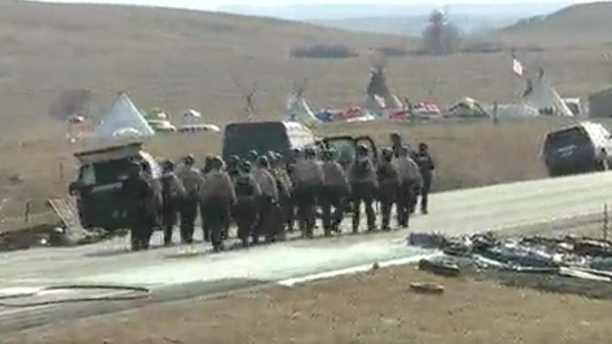 Dozens arrested as police evict Dakota pipeline protesters